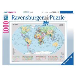 Ravensburger Puzzle Politische Weltkarte, 1000 Puzzleteile bunt