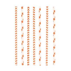Amscan Einweggeschirr-Set Orange Party Strohhalme aus Papier 24 Stück, Papier