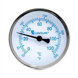Lantelme Raumthermometer 120 Grad Heizungsthermometer, 3-tlg., blau, Anzeige 6,5cm blau