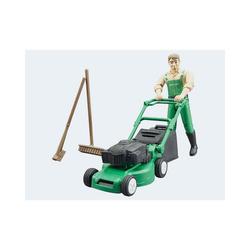 Bruder® Spielzeug-Auto bworld Gärtner mit Rasenmäher und Gartengeräten