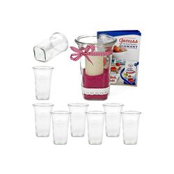 MamboCat Vorratsglas 9er Set Weck Quentin 795 ml mit Rezeptheft