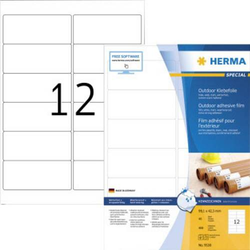 Herma 9538 Etiketten (A4) 99.1 x 42.3mm Folie, matt Weiß 480 St. Extra stark haftend Folien-Etikett