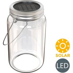 B.K.Licht LED Laterne Solaris-Mini, LED Solar-Licht Lampe Sonnen-Leuchte Licht Deko-Beleuchtung Glas Tisch Garten