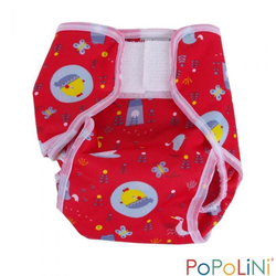 Popolini Überhose PopoWrap Birdy Red Windelüberhose S