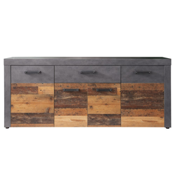 Trendteam Sideboard Indy in Graphit/Altholzoptik
