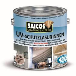 SAICOS UV-Schutzlasur Innen, weiß, UV-Langzeitschutz gegen Vergrauung und Vergilbung des Holzes, 2,5 Liter - Dose