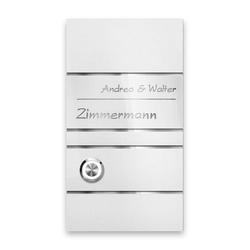 Edelstahl Design Türklingel White-Edition weiß