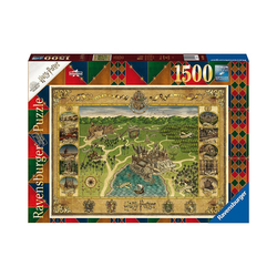 Ravensburger Puzzle Puzzle Hogwarts Karte, 1.500 Teile, Puzzleteile
