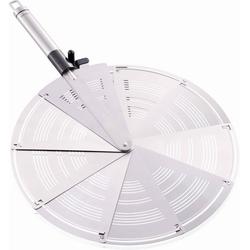 Leifheit Spritzschutzdeckel, Edelstahl/Kunststoff, für Pfannen bis Ø 28 cm