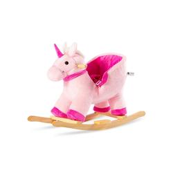 Merax Schaukeltier, Kinder Schaukel-Einhorn Plüsch Schaukel, rosa rosa 28 cm x 70 cm x 53 cm