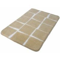 Kleine Wolke Kleine Wolke, Badteppich Carat Höhe 20 mm, rutschhemmend beschichtet, fußbodenheizungsgeeignet beige, Material Polyacryl, gemustert,