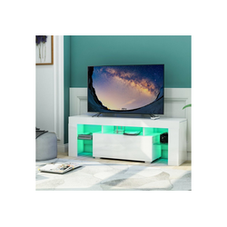 Gotui Unterschrank Gotui TV-Board , Weiß TV Schrank Unterschrank Fernsehtisch TV Board Wohnzimmer, Fernsehschrank, Weiß