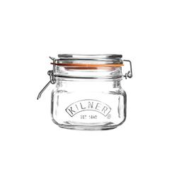 KILNER Bügelverschlussglas eckig 0,5 Liter Vorratsglas Einweckglas