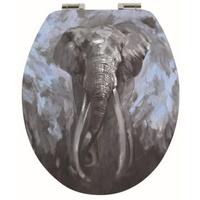 Spirella WC-Sitz ELEPHANT, Toilettendeckel MDF mit Absenkautomatik - hochwertige und solide Qualität