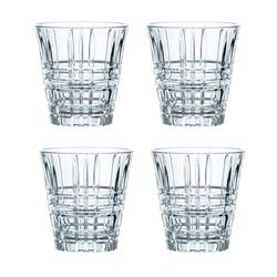 Nachtmann Gläser-Set Square Becher 4er Set 260 ml, Kristallglas