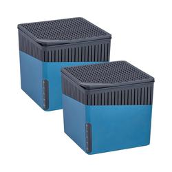 WENKO Luftentfeuchter Cube Grau, für 80 m³ Räume blau