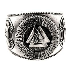 Kiss of Leather Silberring Ring Wotansknoten Valknut Wotan Knoten aus 925 Sterling Silber, Gr. 52-74 68