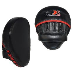 PX Handpratzen / Paar gekrümmt Leder schwarz-rot