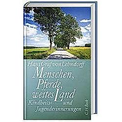 Menschen  Pferde  weites Land. Hans Graf von Lehndorff  - Buch
