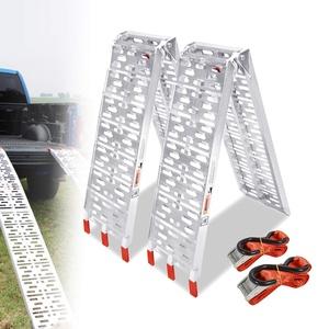 LZQ Auffahrrampe Faltbare ALU 340 kg /750LBS Rampe klappbar Alu Auffahrrampe 680 kg /1500 LBS Tragkraft/Paar Rampe Verladerampen (2 Stück Typ-A)
