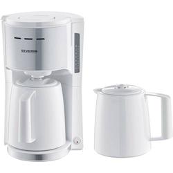 Severin Kaffeemaschine Weiß Fassungsvermögen Tassen=8 Isolierkanne, mit Filterkaffee-Funktion