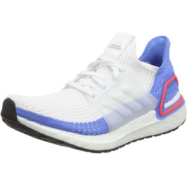 adidas Ultra Boost 19 w Laufschuhe, Weiß (FTWR White/FTWR White/Real Blue FTWR White/FTWR White/Real Blue), 37 1/3 EU