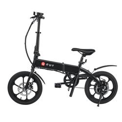 DYU E-Bike DYU A1f, 16 Zoll kleines und leichtes Elektrofahrrad, 240W/ 36V/ 5Ah, max 20 km/h, schwarz, 240,00 W