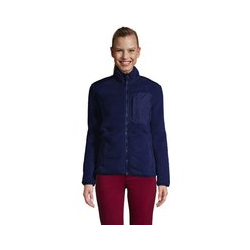 Jacke aus Teddyfleece - M - Blau