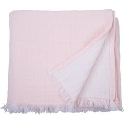 Plaid Fringed Cotton, TOM TAILOR, mit Fransen rosa