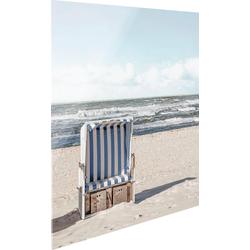 Glasbild »Strandkorb«, Bilder, 81167526-0 beige 30x30 cm beige