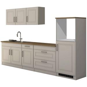 Küchenblock ohne Geräte Küchenzeile ohne Elektrogeräte Küchenblock 290 cm weiss