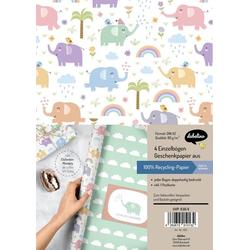 Geschenkpapier-Set Elefanten