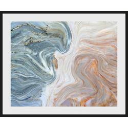 queence Bild Baltasar, Abstrakt (1 Stück) blau 40 cm x 30 cm