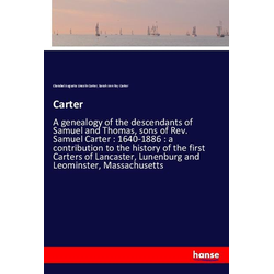 Carter als Buch von Sarah Ann Fay Carter