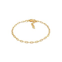 Elli Gliederarmband Gliederarmband Oval Basic 925 Silber goldfarben