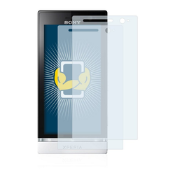 BROTECT Schutzfolie für Sony Xperia U ST25i, (2 Stück), Folie Schutzfolie klar