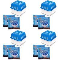 BigDean 4x Ultra Fresh Luftentfeuchter Feuchtigkeits-Stopper mit Nachfüll-Beutel Granulat