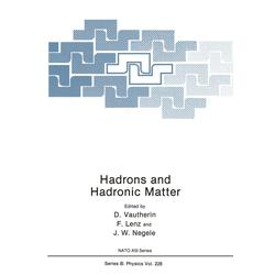 Hadrons and Hadronic Matter als Buch von