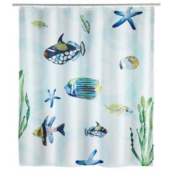 WENKO Duschvorhang Aquaria, Polyester, 180 x 200 cm