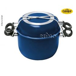 Alu-Topfset 9-teilig blau/schwarz mit Antihaftbeschichtung