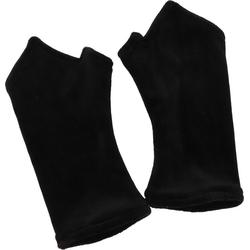 Guru-Shop Armstulpen Handstulpen aus Samt - schwarz schwarz