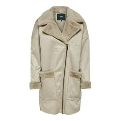 ONLY Wildlederimitat Mantel Damen Beige Female L