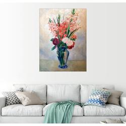 Posterlounge Wandbild, Vase mit Gladiolen 50 cm x 70 cm