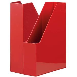 HAN Stehsammler i-Line – 2 STÜCK, eleganter, moderner High-End Stehsammler für Hefte, Zeitschriften und Mappen bis Format A4/C4, rot, 16501-17