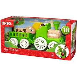 BRIO® Spielzeug-Auto BRIO 30267 - My Home Town Lok mit Kuh-Anhänger
