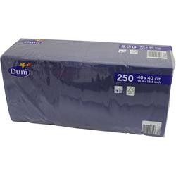 Duni 250 Zelltuch Servietten Dunkel-Blau