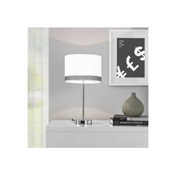 lux.pro Tischleuchte, Doha Tischlampe Nachttischlampe Leselampe weiß