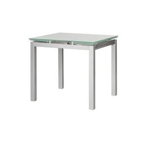 33% Esstisch Glas Metall Ausziehbar Emanuel ¦ Silber ¦ Maße (cm): B: