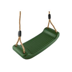 GO!elements Einzelschaukel Sky Stormer, Schaukel Garten - Kinderschaukel Outdoor Indoor - Schaukelsitz Schaukelbrett Brettschaukel für Kinder zum Schaukeln - Höhenverstellbar - Rutschfest grün