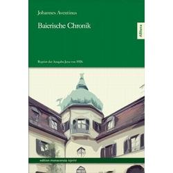 Baierische Chronik als Buch von Johannes Aventinus
